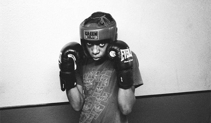 美国黑白少年拳击训练营