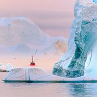 夏日格陵兰 天际极昼的梦幻