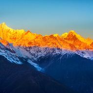日照金顶 梅里雪山