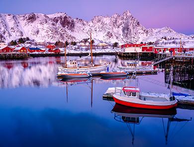 冬日挪威罗佛敦