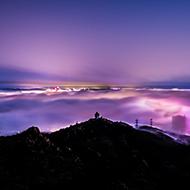 人间仙境 平流雾景观