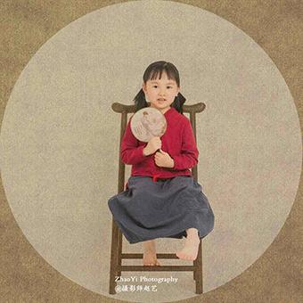 中国画里的娃娃