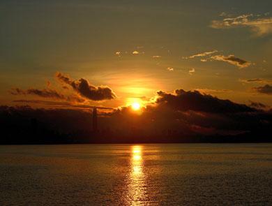 深圳湾的早晨