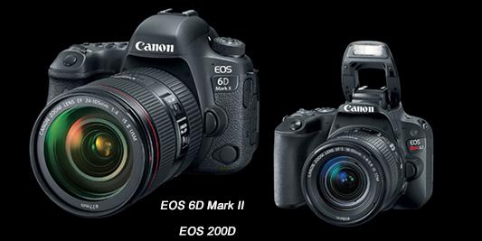 双箭齐发感动升级 佳能发布EOS 6D2/200D