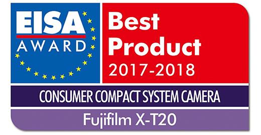 富士无反相机X-T20荣获2017年度EISA大奖