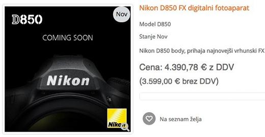 尼康D850身价全曝光 中国售价或成最低