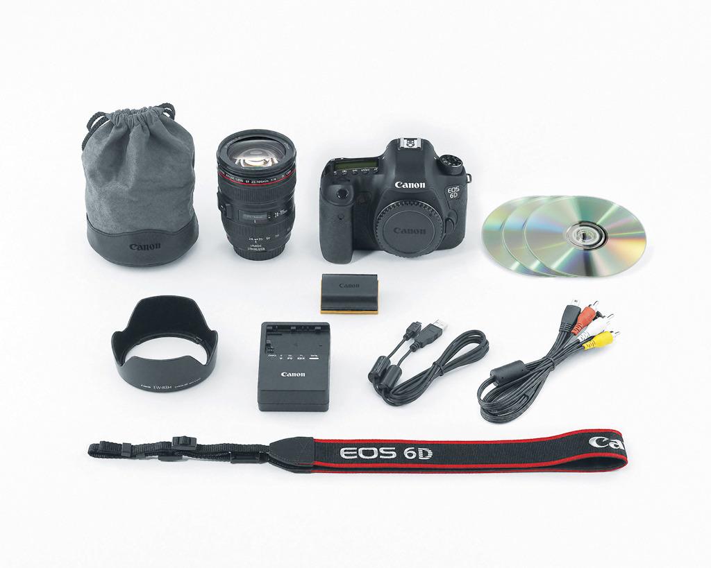 佳能为eos6d设计了两种套机,分辨搭配的都是恒定f4光圈的专业l镜头图片