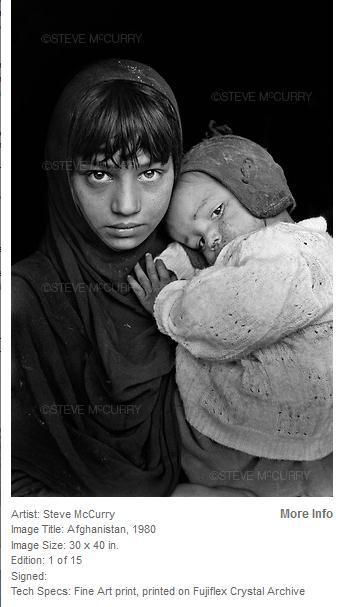 """""""阿富汗女孩""""摄影师Steve迪拜办摄影展"""