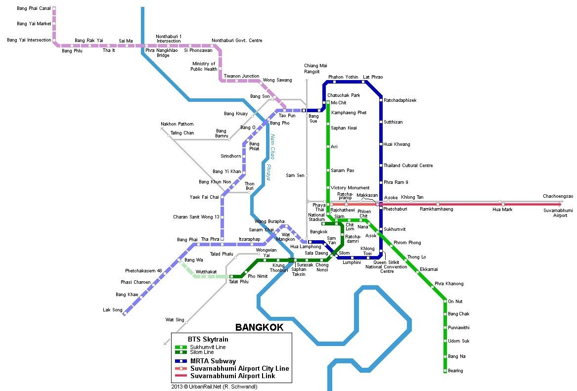 香港地铁线路图-不看寺庙不赏人妖 两天随心自由逛曼谷
