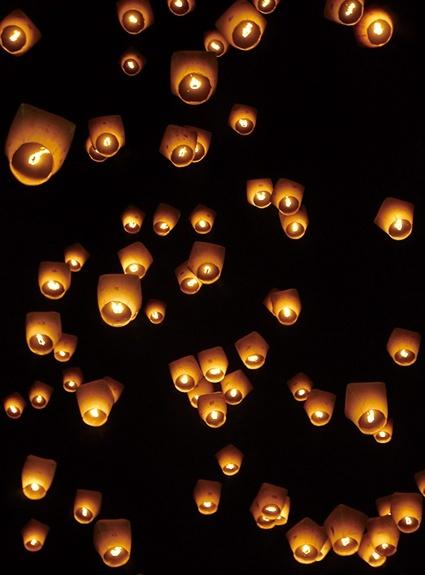 如何在正月十五夜晚拍好孔明灯