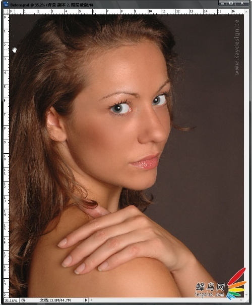 PhotoShop磨皮教程 人物皮肤处理方法教程
