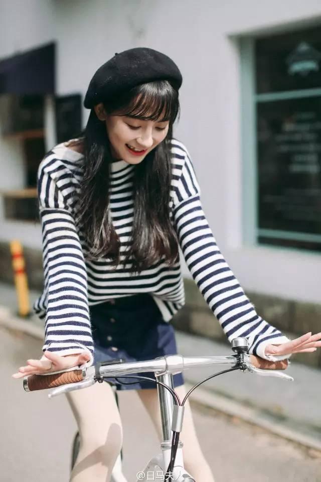 你骑单车的样子真可爱