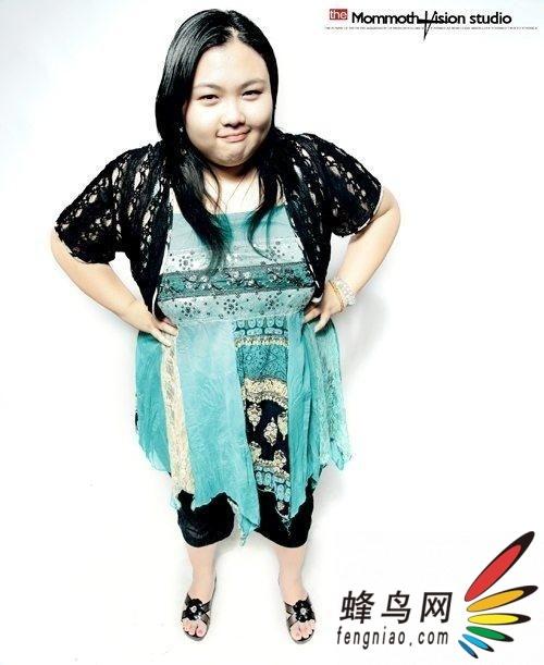 美女模特 220斤的胖