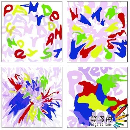 PS色彩构成与应用 优秀作品欣赏点评 -给同一张灰度图填色