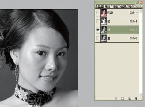 Photoshop大揭秘通道磨皮法