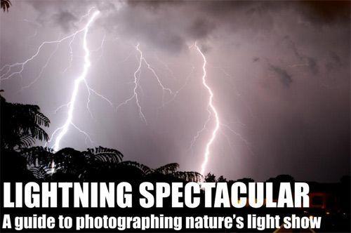 闪电拍摄技巧