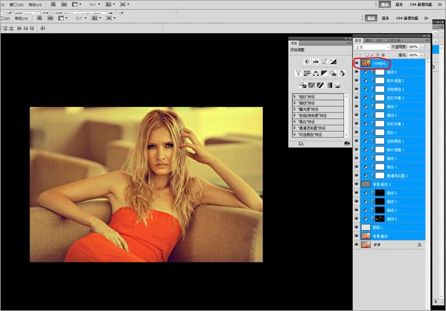 用PS的通道混合器对照片进行整体色调控制 学院频道