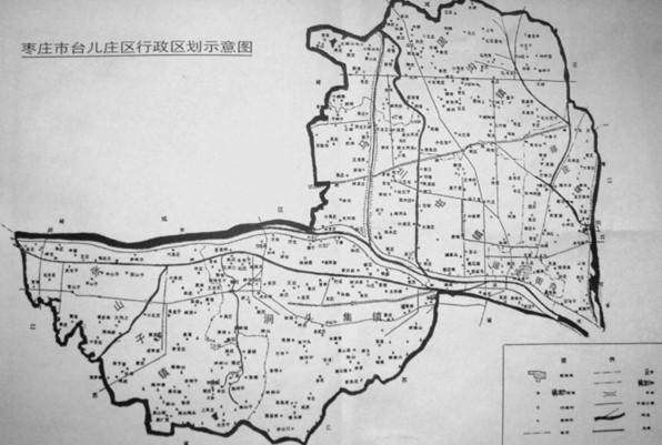 台儿庄区行政区划示意图