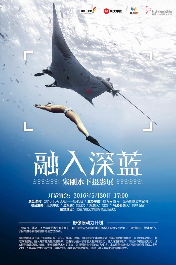蜂鸟网发力潜水摄影 首发宋刚融入深蓝水下作品